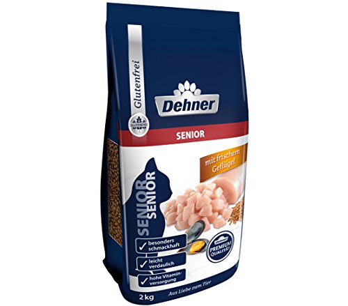 Dehner Premium Katzentrockenfutter Senior, Geflügel, 2 kg