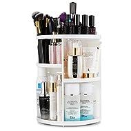 Jerrybox Makeup Organizer, 360 Degree Rotating Vanity Organizer and Cosmetic Storage Display Box, Large Capacity Make up Caddy Shelf Cosmetics Organizer Box with 7 Layers