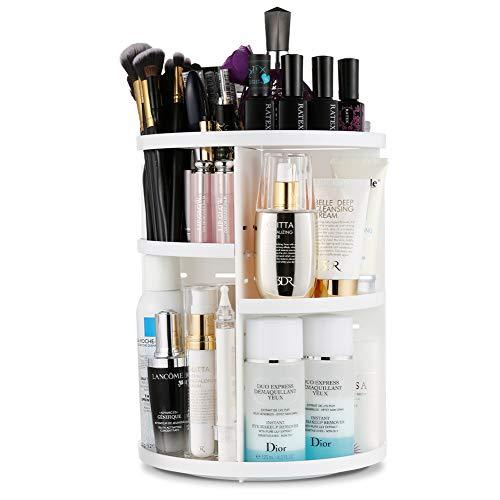 Jerrybox Makeup Organizer, 360 Degree Rotating Vanity Organizer and Cosmetic Storage Display Box,...