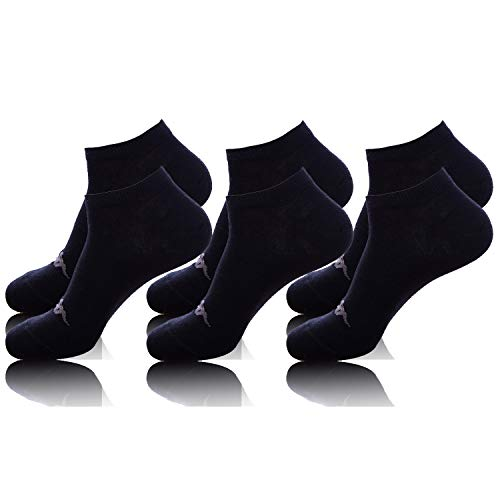 Kappa T133-2-F 35/38 Set calcetines, 3 Pares Invisibles Negro, Adultos unisex