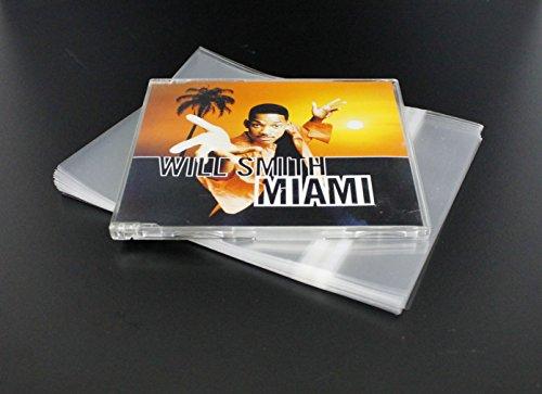 DAISON Busta richiudibile per custodie CD single jewelcase musicali originali sottili (conf. 50 pz)