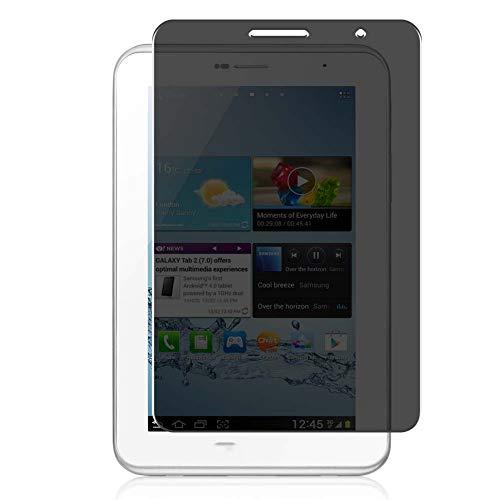 Vaxson Protector de Pantalla de Privacidad, compatible con Samsung Galaxy Tab 2 P3100 P3110 P3108 7.1' Tab2 [no vidrio templado] TPU Película Protectora Anti Espía