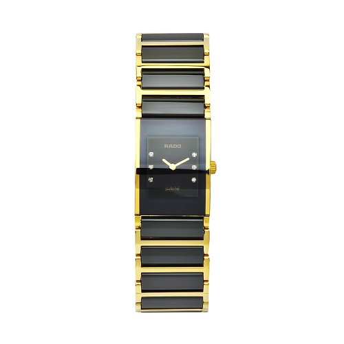 Rado Women's R20789752 Integral Black Dial Ceramic Bracelet Watch
