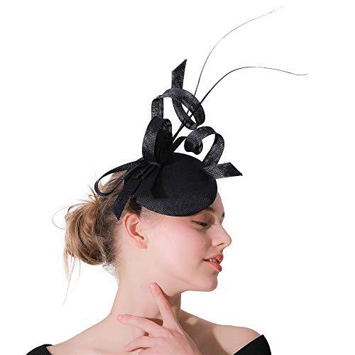 Sombrero tocados Pinzas de Pelo de Novia de la Boda Fascinator del...