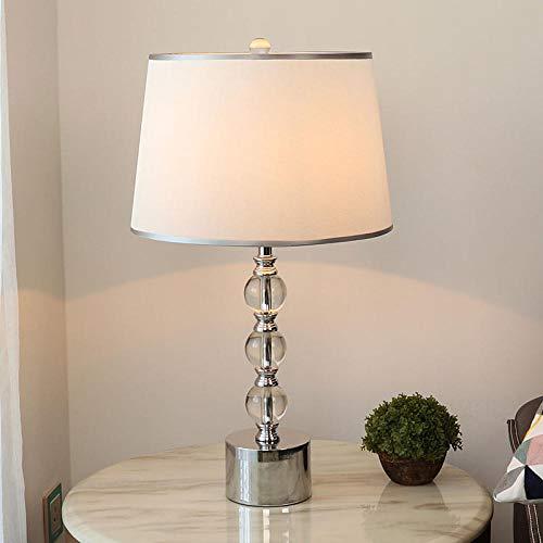 Luz moderna lámpara de mesa de cristal de lujo lámpara de mesita...