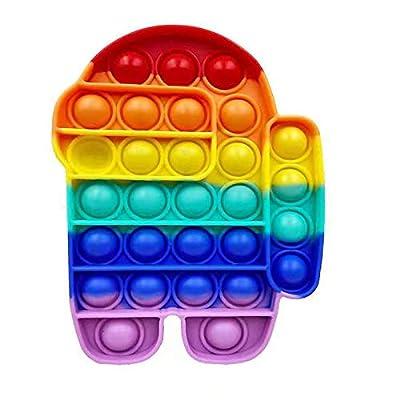 Among Us Pu-sh Pop Bubble Sensory Fidget Toy Fidget Toy Fidget Sensory Juguetes antiestrés Juguetes para niños y él de Yusheng