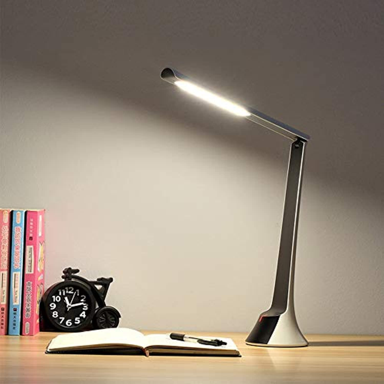 LED Tischlampe Dimmbare Schreibtischlampe USB wiederaufladbare Tischlampe Mode Look Energiesparendes Leselicht für Studie Augenschutz Licht