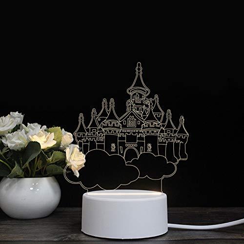Led-bureaulamp, energiebesparend, creatieve modelleerserie, kleine 3D-nachtlampje, afstandsbediening, bedlampje, kleuren-touch-tafellamp met USB-adapter