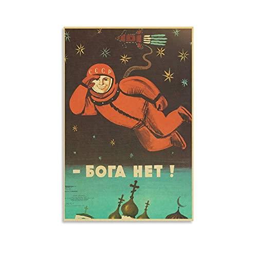 GNKIO Yuri Gagarin Póster Anime Comic Art 4K HD Lienzo Arte Póster de pared Impresión Moderna Familia Dormitorio Póster 40 x 60 cm