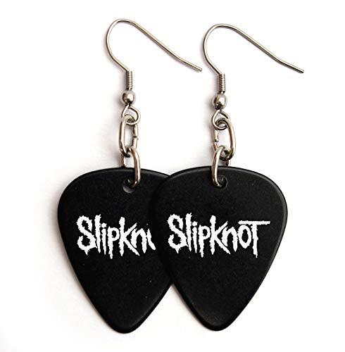 Slipknot Gitarre Plektrum Plektron Logo Ohrringe (BW)