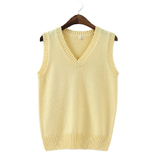 Yellow Sweater Vest for Men