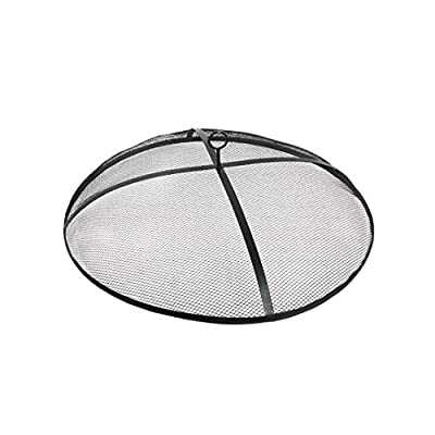 """Blue Sky Outdoor Living SS3604 39"""" Screen Self-Assembled Round Spark Cover, Black"""