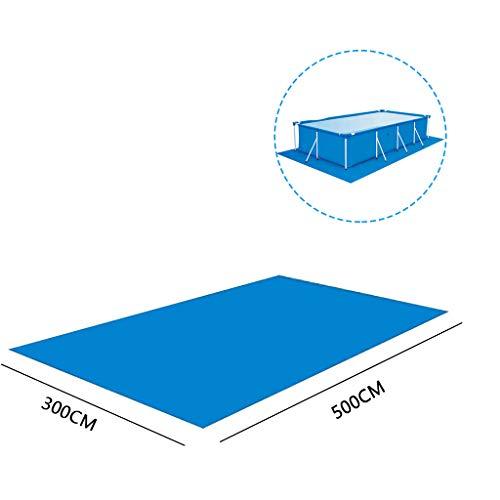 KPPONG Bâche de Protection Piscine, Hors Sol Rectangulaires Solaires Couverture Piscines,4 Saisons Anti-UV Anti-Poussière Tailles 295-500cm