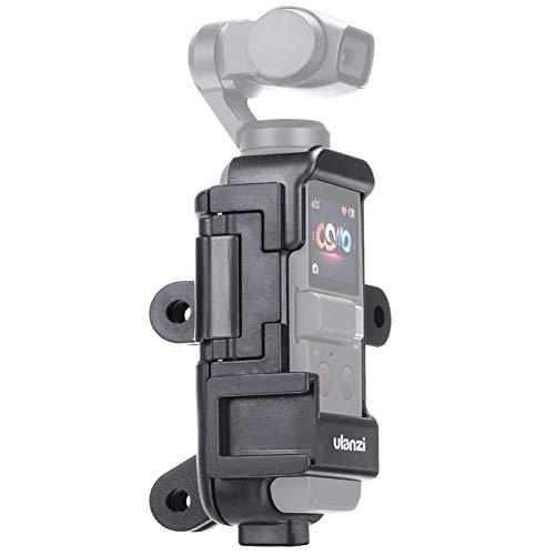 Sutefoto OP-7 Vlog Estuche de Caja Extendida Compatible para Osmo Pocket Soporte de Caja Multifuncional con Micrófono Montaje en Zapata Fría 1/4' Orificio 3 Adaptadores de Interfaz