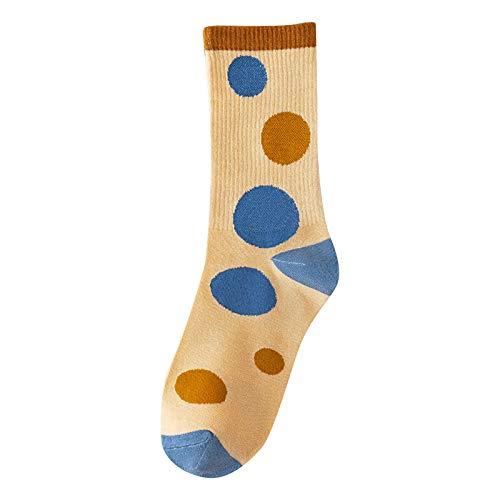 Women Short Sox 2021 Fashion Cylinder Cartoons Printing Anklets Towel Bottom Socks Lnvisible Ship Socks(One Size,Yellow)