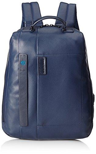 Piquadro Pulse 15'' Laptop Zaino, Pelle, Blu, 42 cm