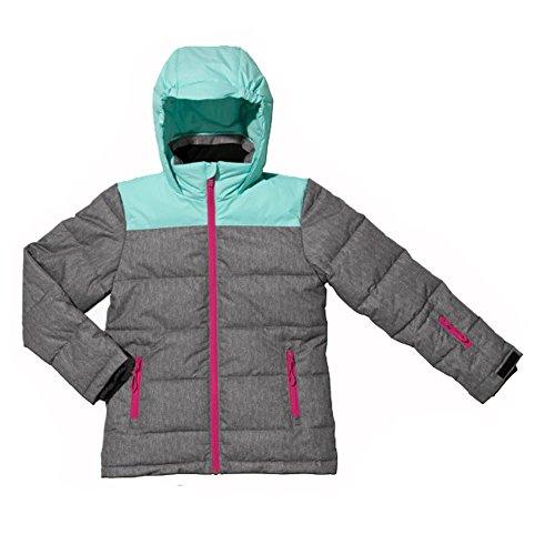 Kinderen meisjes ski-jack ski-jack maat 116 grijs mint