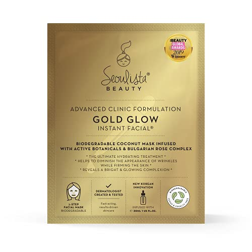 Seoulista Beauty Advanced Clinic Formulation Gold Glow Instant Facial –...