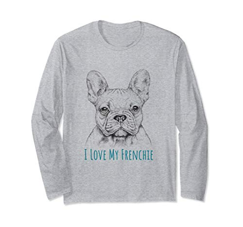 I love My Frenchie graphic - French Bulldog Long Sleeve T-Shirt