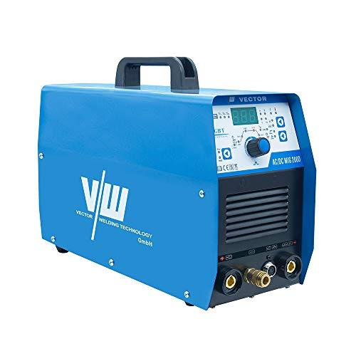 WIG Schweißgerät AC/DC mit Elektrodenschweißfunktion und 200 Ampere Schweißstrom | Aluminium schweißen - HF-Zündung - 2 und 4 Takt - digitales Anzeigendisplay von Vector Welding