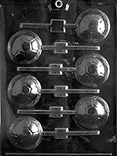 Cybrtrayd S019 Soccer Ball Lolly Chocolate Candy Mold with Exclusive Cybrtrayd Copyrighted Chocolate Molding Instructions