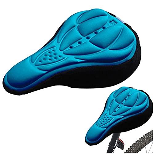 Asiento de silla de montar en bicicleta de montaña en bicicleta transpirable espuma suave montar de la bici MTB de una silla cómoda con Amortiguador de la silla de montar de ciclo de accesorios azul