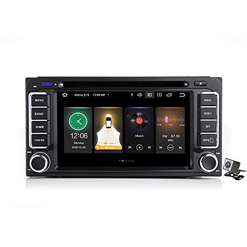 Buladala Android 11 Autoradio Navigatore Audio per Toyota Universal   7″ Touch Screen   Supporto CD Dvd   FM AM RDS Dab+ Radio   con Carplay Android Auto DSP   Bluetooth MirrorLink,188l: 2+16gb