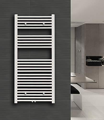 Badkamerradiator STRAIGHT-M (middenaansluiting, wit) 160 x 60 cm wit