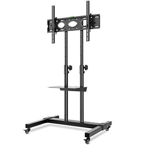 RFIVER Movil Soporte TV con Ruedas de Suelo Carro para TV de 32 a 70 Pulgadas con Altura Ajustable Inclinable MAX VESA 600x400mm MT1001