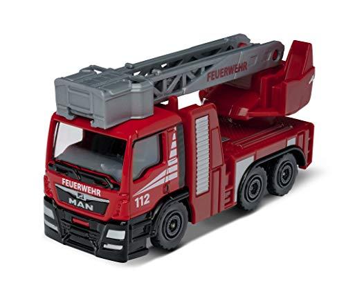 Majorette SOS MAN TGS - Camion dei pompieri, auto giocattolo a ruota libera da aprire e/o spostare da 7,5 cm, colore: Rosso per bambini dai 3 anni in su
