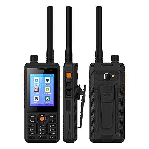 Zello Walkie Talkie, UNIWA P5 4G LTE Smartphone Android 9.0 UHF 400-470 MHz 1 GB+8 GB 5300 mAh Dual SIM Ranuras para tarjeta impermeable teléfono móvil (no DMR UHF)