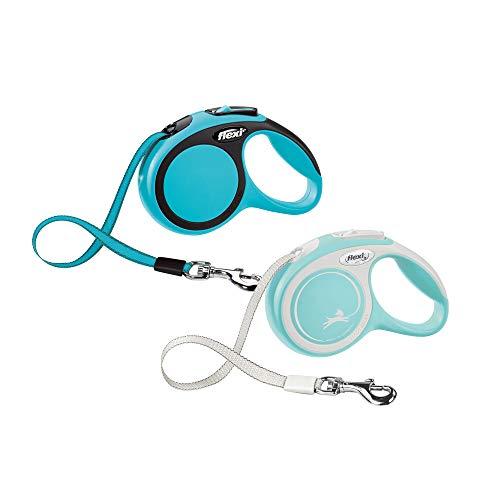 flexi New Comfort Hundeleine, einziehbar, 3 m, extra klein, Blau / Pastellfarben
