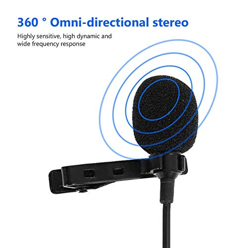 3.5mm mic Clip Microphone for YouTube, Collar Mic for Voice Recording, Mic Mobile, Laptop, Android & Smartphones with Type C to 3.5 mm Jack Audio Connector Especially for 1 Plus Mobile by Eazories