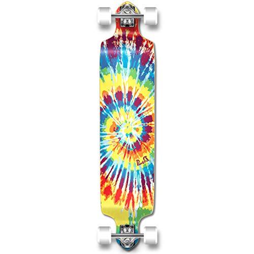 YOCAHER Professional Speed Drop Down Complete Longboard Skateboard (Tiedye Original)