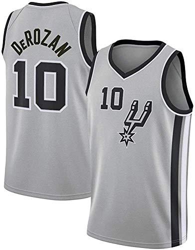 lpf Männer NBA Basketball Jersey Demar DeRozan # 10 San Antonio Spurs NBA Unisex Jugend ärmel Tops Outdoor Sports Wettbewerb Anzüge Basketball Vest (Size : XXL)