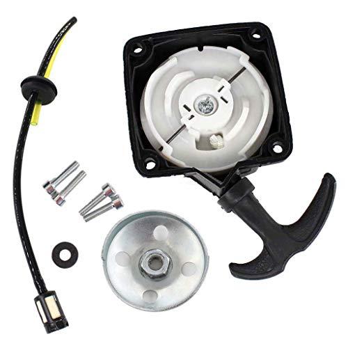 HURI Seilzugstarter Mitnehmerplatte Benzinschlauch mit Benzinfilter für Zipper ZI-MOS125, ZI-MOS145, ZI-MOS145G mobile Motorsense Freischneider
