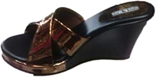 SANDAL HOUSE Articles 1280 Gold Black Colour Sandal for Girl