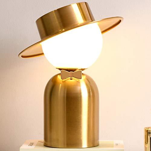 Lampe à Poser Dorée Lampe De Chevet en Métal Lampe De Bureau Industrielle Moderne Lampe De Salon Lumière De Nuit Lampe De Chambre à Coucher Décor d'halloween Décor De Noël Cadeau De Mariage,2