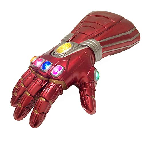 YUANY Adultos nios Tanos LED Luminoso Cosplay Infinito Guante Iron Man Guantes Brillantes Handschuhe superhroe Disfraces de Juguete,Red-One Size Child