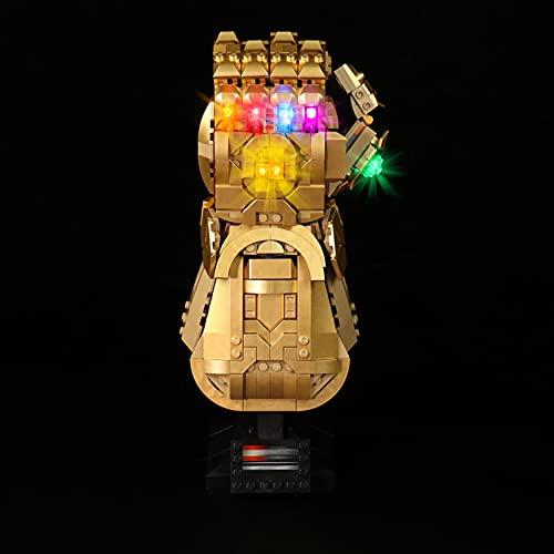 YBLOC Kit Di Illuminazione A LED Per Lego 76191 Marvel Infinity Gauntlet, Spettacolo Di Luci Compatibile Con Lego 76191 (Non Include Il Set Di Lego)
