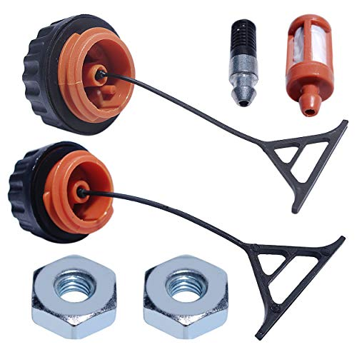 Mtanlo Gas Fuel Oil Cap Bar Nuts Filter Kit for Stihl 020 021 023 024 024AV 025 026 026PRO 028 028AV 029 034 036 038 039 044 066 Chainsaw