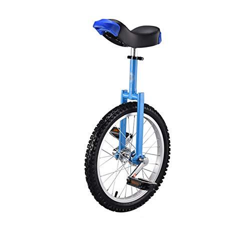 TWW Einrad Fahrrad Kind Erwachsener 16 Zoll Einrad Akrobatik-Laufrad Mehrfarben-Sportfahrrad Einrad-Laufrad,Blue 16 inches