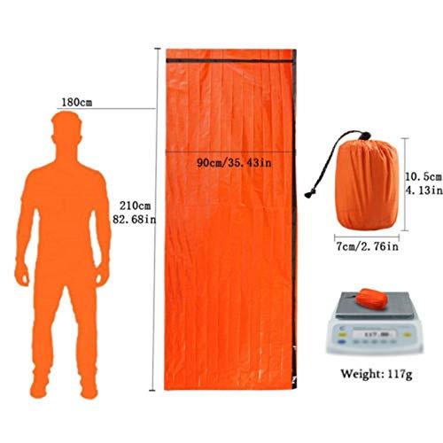 2-Delige Outdoor Emergency Slaapzak Thermal Survival Travel Camping Bags Waterproof Winter Autumn Picnic Mat Anti-Koude