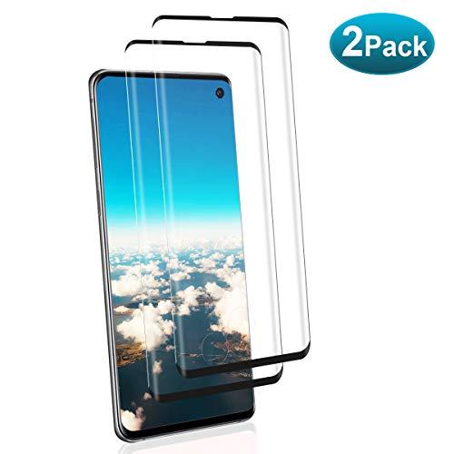 NONZERS Cristal Templado para Samsung Galaxy S10, [2 Unidades] 3D Cobertura Completa 9H Dureza Vidrio Templado, Pegamento en Toda la Pantalla, Alta Sensibilidad Protector de Pantalla para Samsung S10