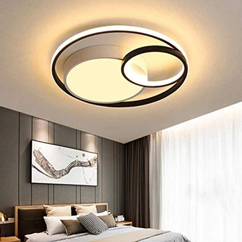 Creatividad moderna Luz de techo de acrílico de metal LED, luz de mesa de comedor con atenuación infinita 48Cm 55W Sala de estar redonda Dormitorio Comedor Habitación de los niños Balcón Escalera Luz