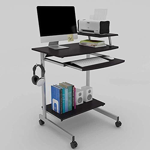 Computer Desk Laptop Studie Tafel Bureau Computer Tafel met Boekenplank met Uittrekbare Toetsenbordlade Laptop Tabel