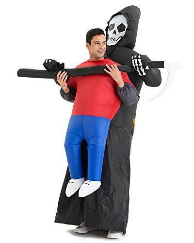 Hsctek Carry me Costume, Grim Reaper Inflatable Costume, Blow Up Costumes, Halloween Costume for Men Women
