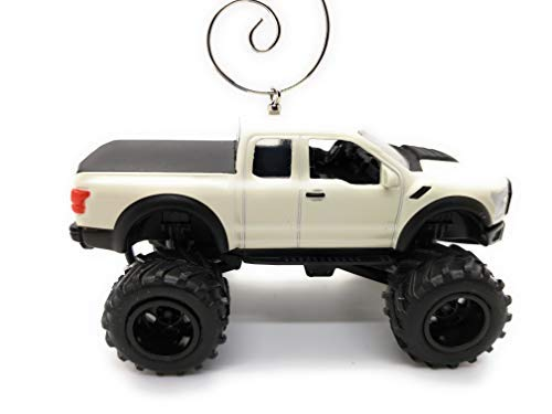 Ford F-150 Raptor Truck Large Custom Christmas Ornament 1:64 Diecast White