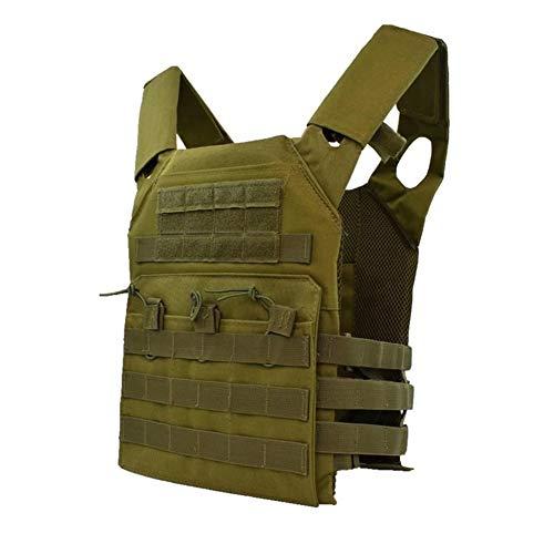 YUANYUAN520 Jagd Taktische Körperschutz JPC Molle Plattenträger Weste Outdoor CS Spiel Paintball Airsoft Weste Militärische Ausrüstung Outdoor (Color : Green, Size : One size)