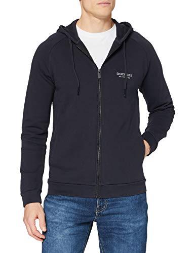 Dockers Herren Full Zip Logo Hoodie Pullover Sweater, Navy, M